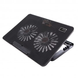 uNiQue Laptop Cooling Pad MaxCool-9 - Hitam