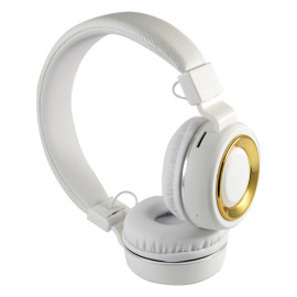 uNiQue Headphones & Headsets Bluetooth Over in Head Multimedia SH18 White