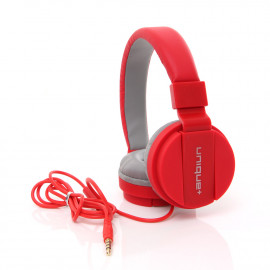 uNiQue Headset In Ear Multimedia Headphone with Built-in Microphone TV-05 Merah