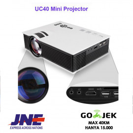 uNiQue Mini Proyektor Projector Portable LED 800 Lumens UC40
