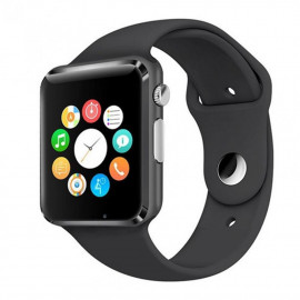 uNiQue Smartwatch A1 for iOS and Android - Strap Rubber - Black